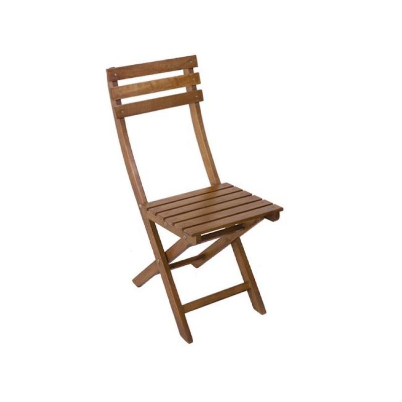 """Καρέκλα """"ADA"""" πτυσσόμενη ξύλινη σε καρυδί χρώμα 38x56x86"""