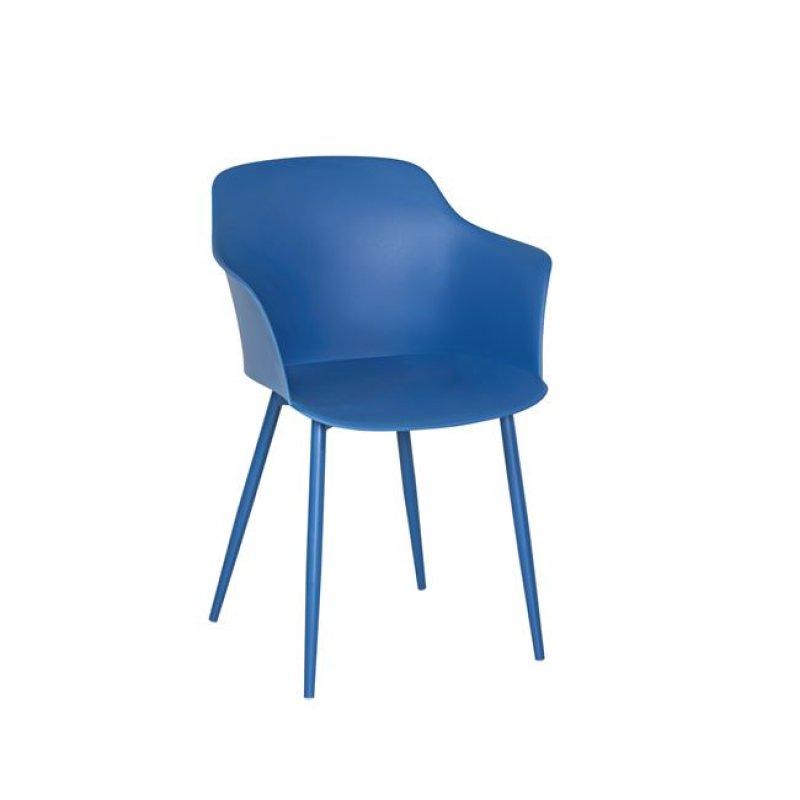 """Πολυθρόνα """"GLORIA"""" από πολυπροπυλένιο σε μπλέ χρώμα 59x52x82"""