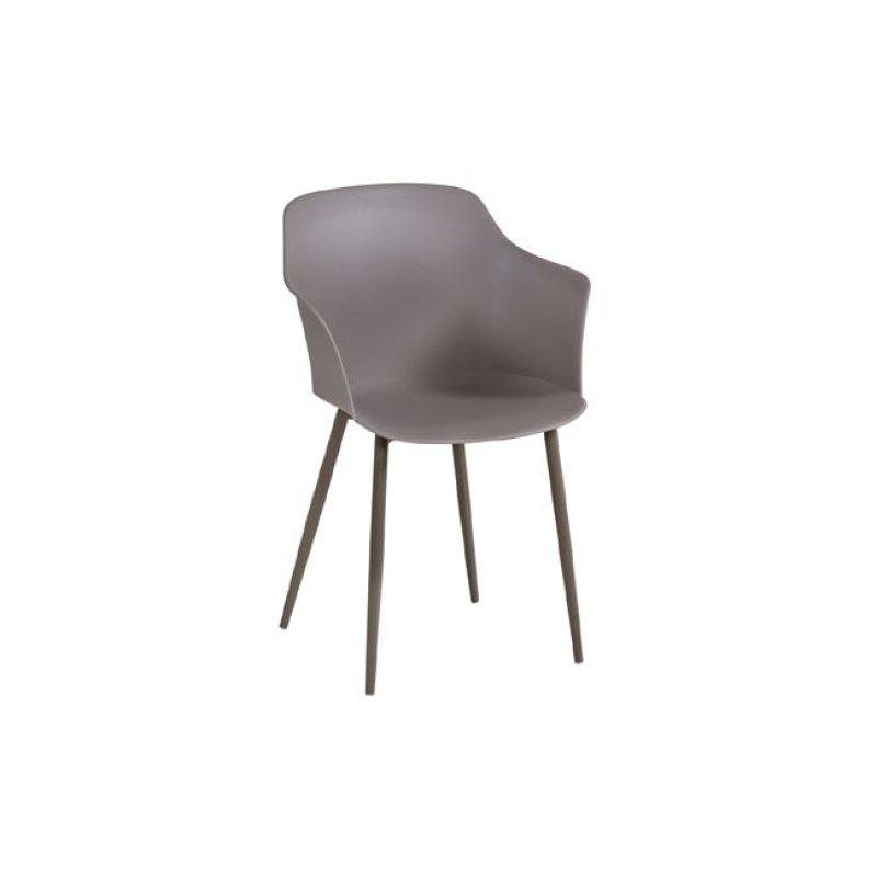 """Πολυθρόνα """"GLORIA"""" από πολυπροπυλένιο σε μπεζ χρώμα 59x52x82"""