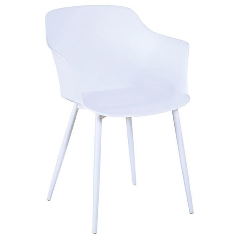"""Πολυθρόνα """"GLORIA"""" από πολυπροπυλένιο σε λευκό χρώμα 59x52x82"""