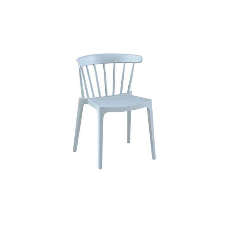 """Καρέκλα """"WEST"""" από πολυπροπυλένιο σε χρώμα βεραμάν 53x53x75"""