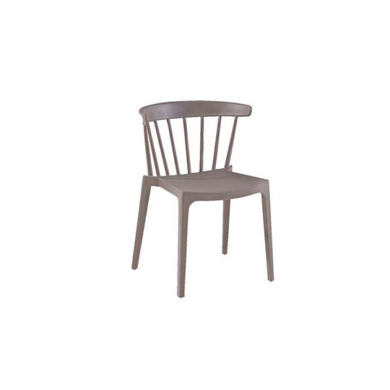 """Καρέκλα """"WEST"""" από πολυπροπυλένιο σε μπέζ χρώμα 53x53x75"""