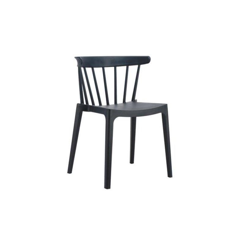 """Καρέκλα """"WEST"""" από πολυπροπυλένιο σε μαύρο χρώμα 53x53x75"""