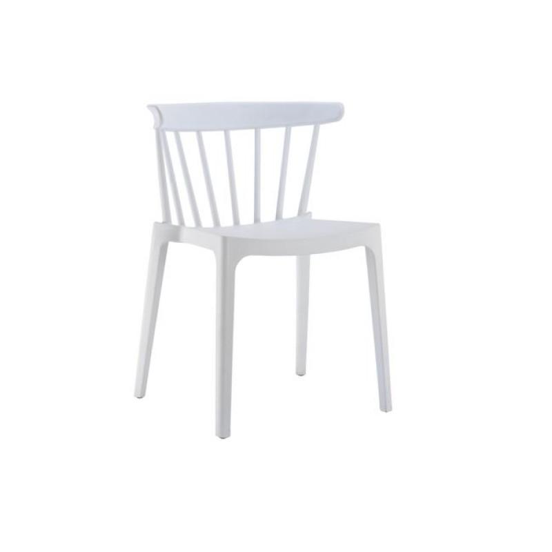 """Καρέκλα """"WEST"""" από πολυπροπυλένιο σε λευκό χρώμα 53x53x75"""