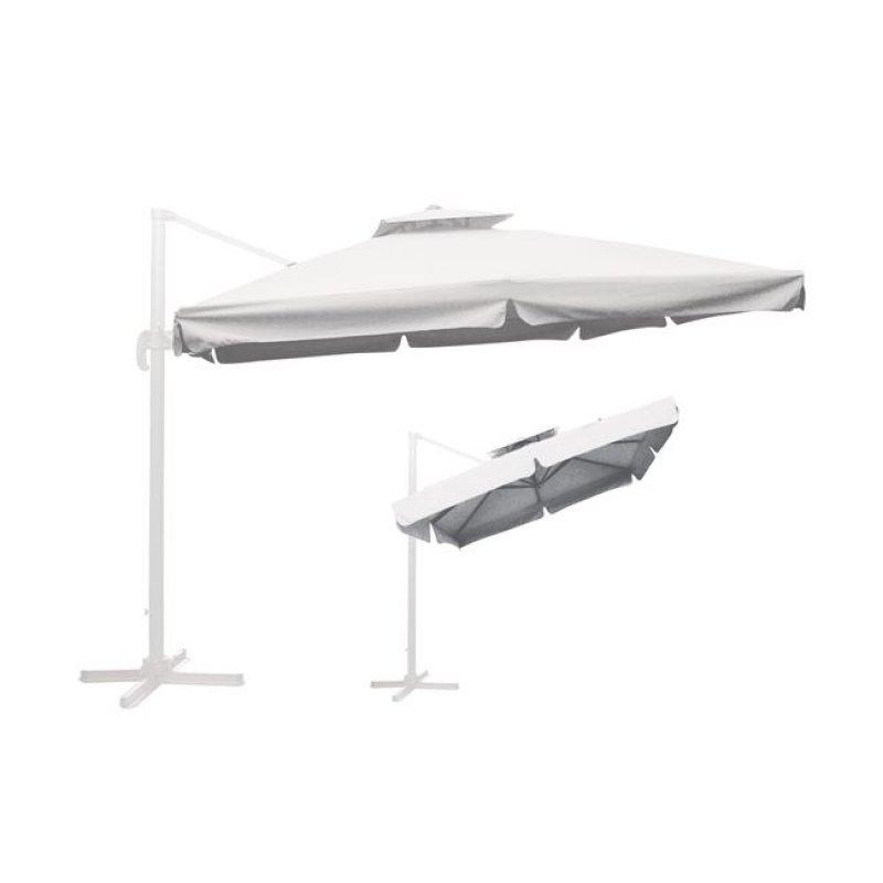 """Ομπρέλα """"HANGING"""" αλουμινίου-υφασμάτινη σε λευκό χρώμα 3x3"""