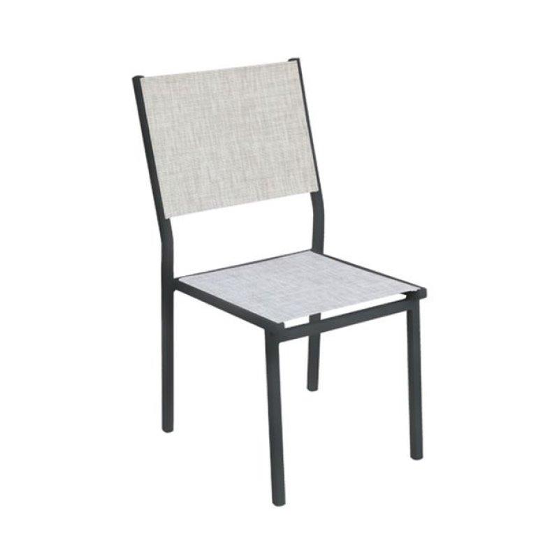 """Καρέκλα """"SLING"""" αλουμινίου με textilene σε χρώμα γκρι 46x61x88"""