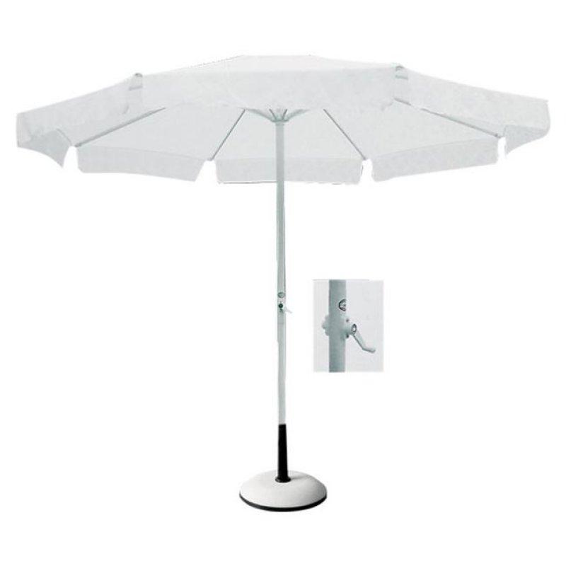 Ομπρέλα αλουμινίου-υφασμάτινη σε λευκό χρώμα Φ2