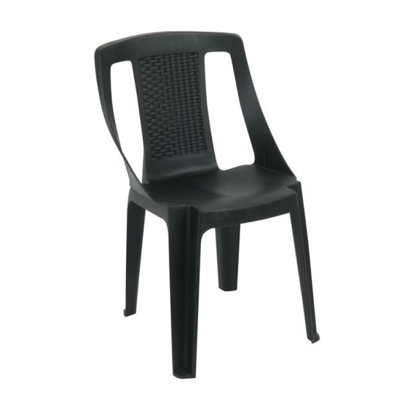"""Πολυθρόνα """"PROCIDA"""" στοιβαζόμενη πλαστική σε χρώμα ανθρακί 48x49x82"""