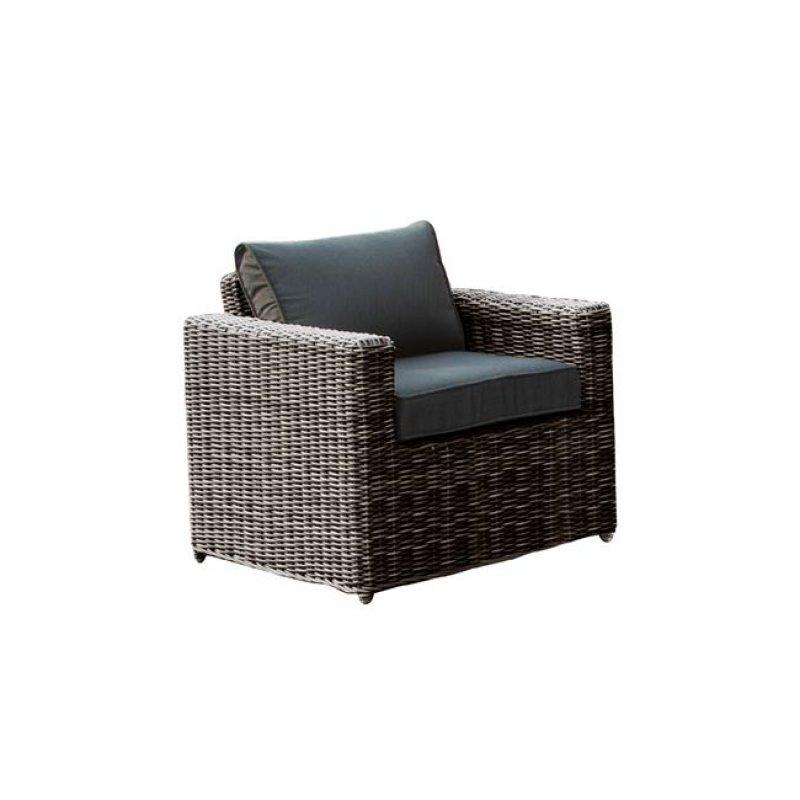 """Πολυθρόνα """"ARIZONA"""" αλουμινίου από πλέξη wicker σε καφέ χρώμα 77x77x73"""