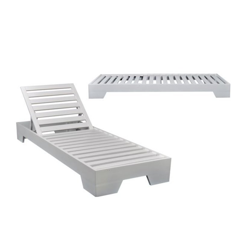 """Ξαπλώστρα """"VERANO"""" ξύλινη σε χρώμα λευκό 74x213x22"""