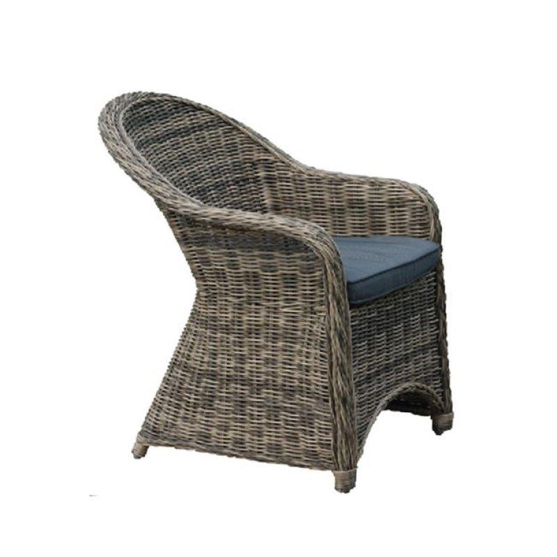 """Πολυθρόνα """"MONTANA"""" αλουμινίου από πλέξη wicker σε καφέ χρώμα 60x72x85"""