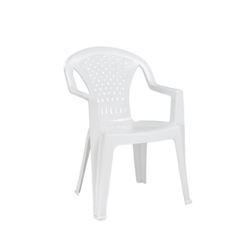 """Πολυθρόνα """"PORTOFINO"""" πλαστική σε χρώμα λευκό 57x45x80"""