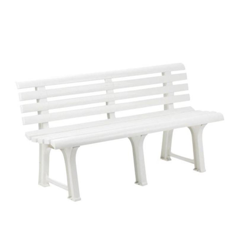 """Παγκάκι """"ORCHIDEA"""" πλαστικό σε λευκό χρώμα 145x49x74"""
