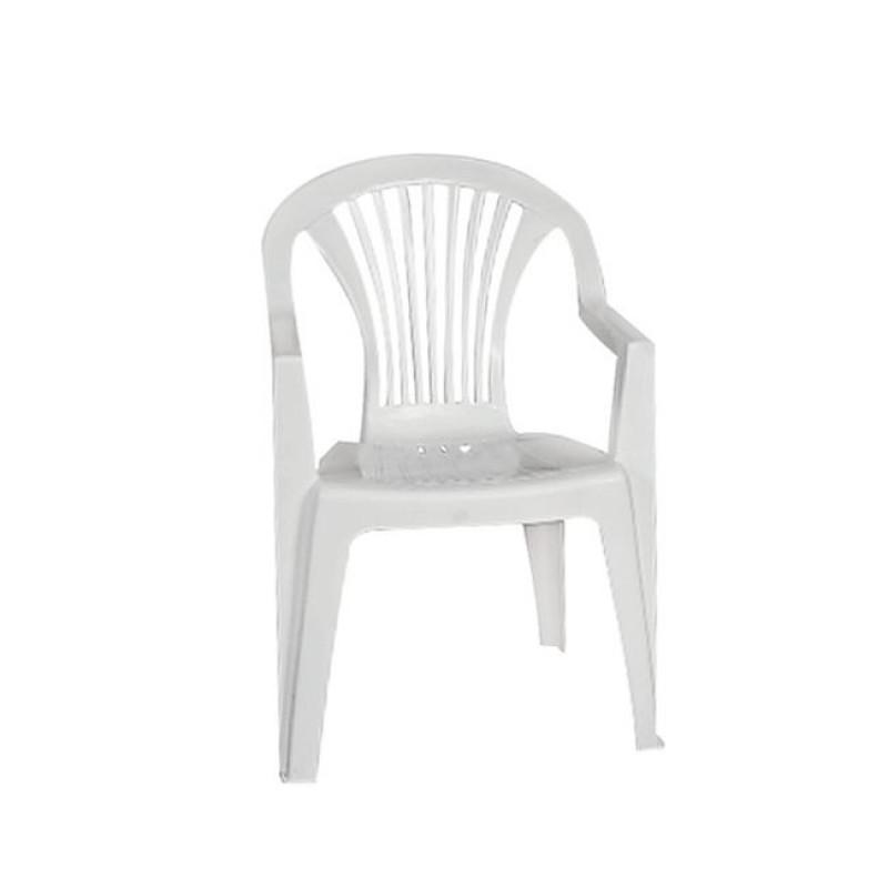 """Πολυθρόνα """"LIDO"""" πλαστική σε χρώμα λευκή 57x45x85"""