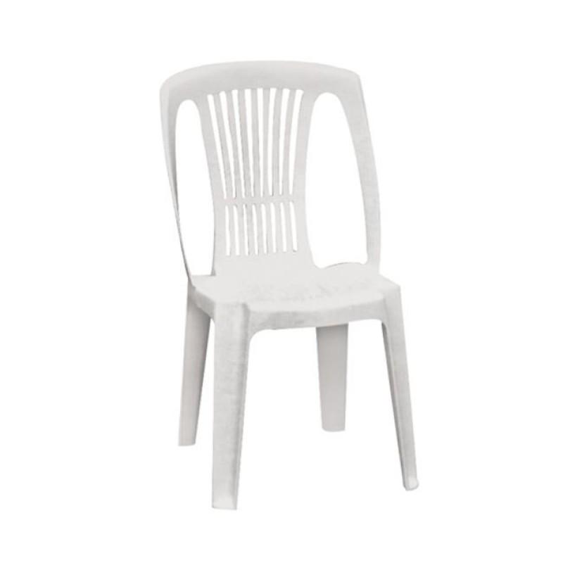 """Καρέκλα """"STELLA"""" πλαστική σε λευκό χρώμα 46x53x86"""