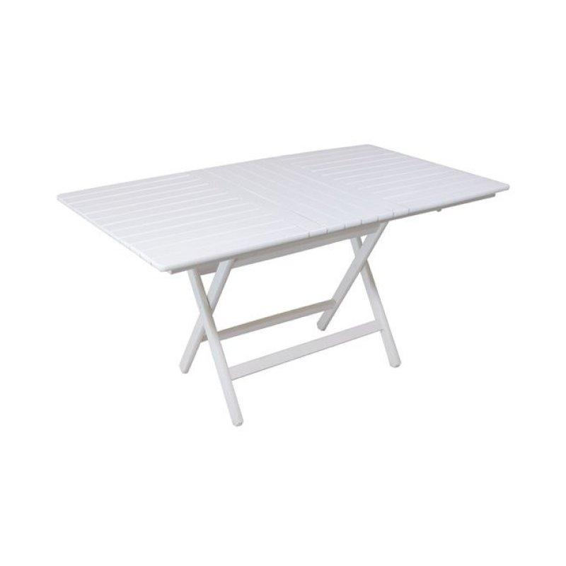 """Τραπέζι πτυσσόμενο """"FOLDING"""" σε λευκό χρώμα 160x80x72"""