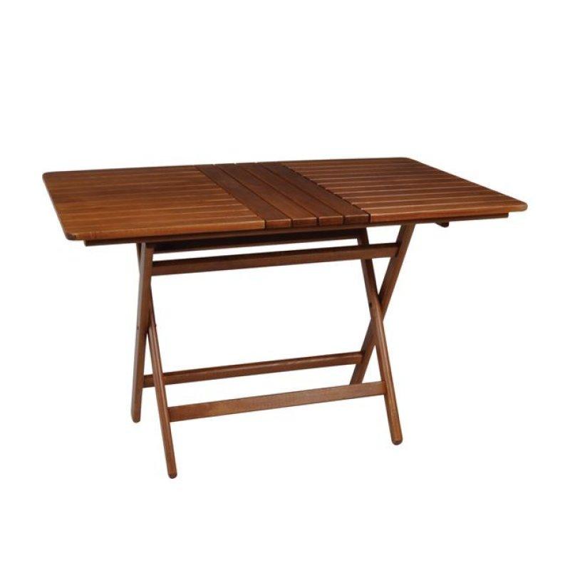 """Τραπέζι πτυσσόμενο """"FOLDING"""" σε καρυδί χρώμα 80x160x72"""