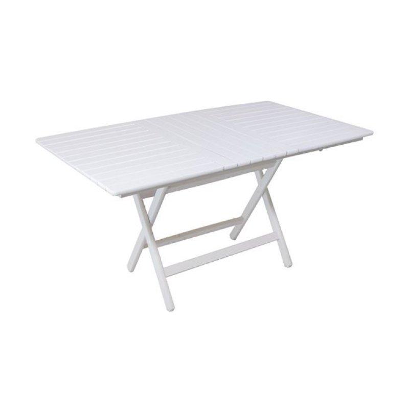 """Τραπέζι πτυσσόμενο """"FOLDING"""" σε λευκό χρώμα 120x80x72"""