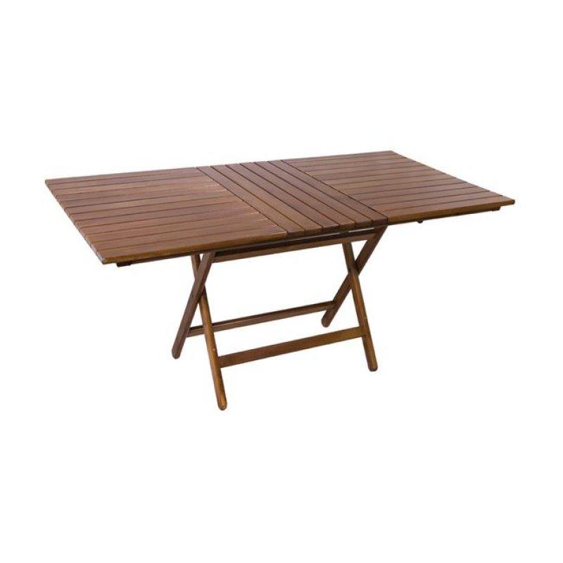 """Τραπέζι πτυσσόμενο """"FOLDING"""" σε καρυδί χρώμα 120x80x72"""