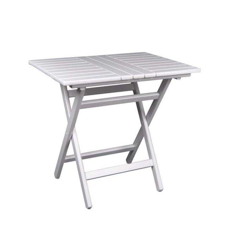 """Τραπέζι πτυσσόμενο """"FOLDING"""" σε λευκό χρώμα 60x80x72"""