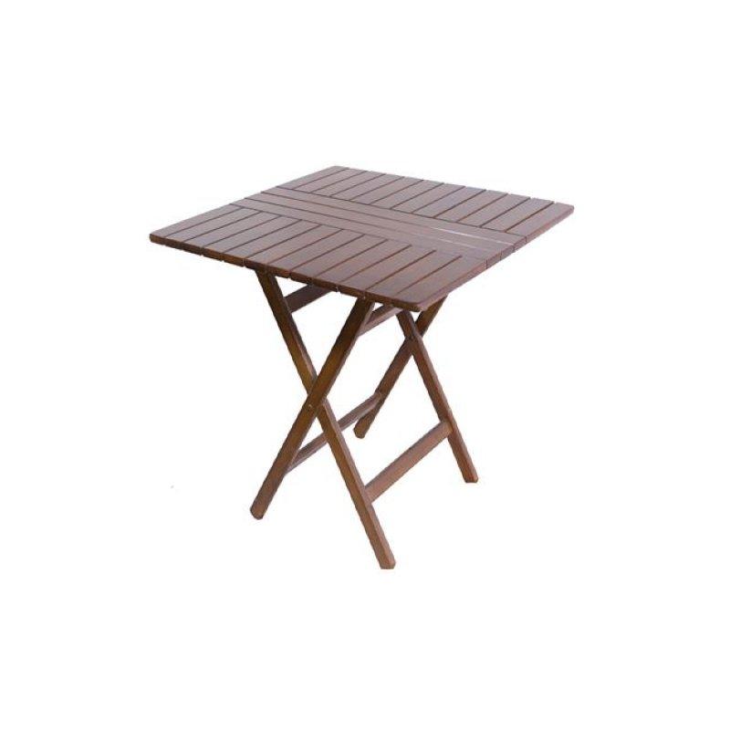 """Τραπέζι πτυσσόμενο """"FOLDING"""" σε καρυδί χρώμα 60x80x72"""