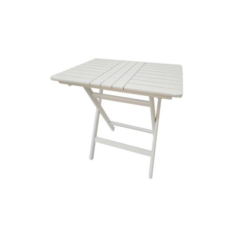 """Τραπέζι πτυσσόμενο """"FOLDING"""" σε λευκό χρώμα 60x60x72"""
