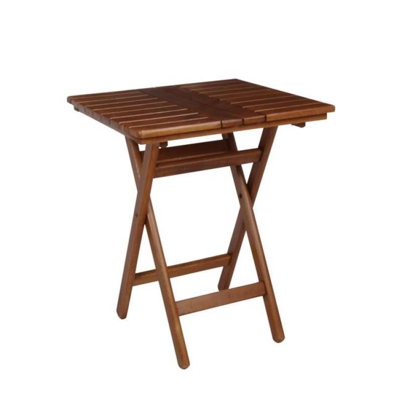 """Τραπέζι πτυσσόμενο """"FOLDING"""" σε καρυδί χρώμα 60x60x72"""