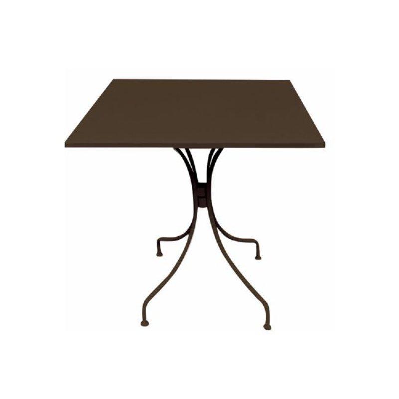 """Τραπέζι """"PARK"""" μεταλλικό σε καφέ χρώμα 70x70x71"""