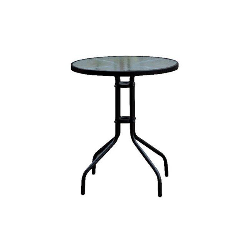 """Τραπέζι """"BALENO"""" στρόγγυλο μεταλλικό σε μαύρο χρώμα 60x70"""