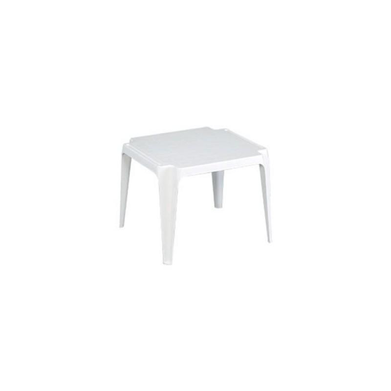 """Τραπεζάκι βοηθητικό """"XENIA"""" από πλαστικό σε λευκό χρώμα 55x50x44"""