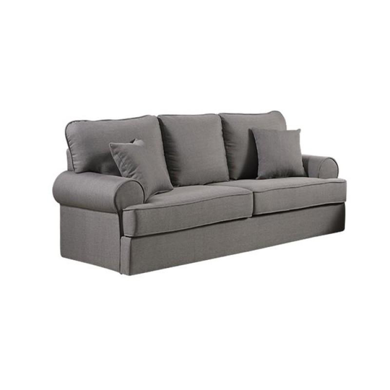 """Καναπές """"ROBINSON"""" τριθέσιος υφασμάτινος σε γκρι χρώμα 199x87x88"""