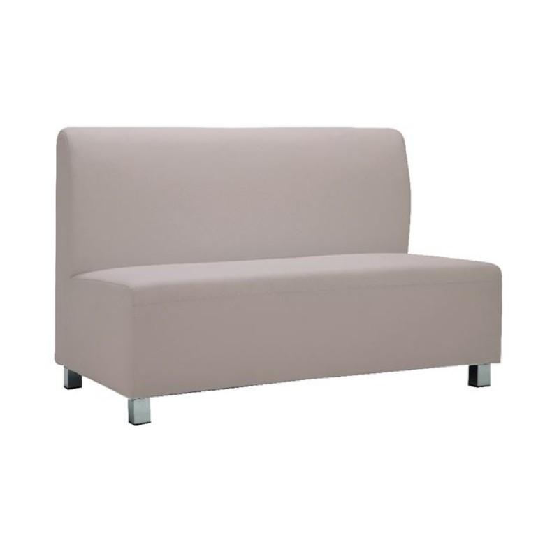 """Καναπές """"BANDY"""" διθέσιος από pu σε sand grey χρώμα 130x71x88"""