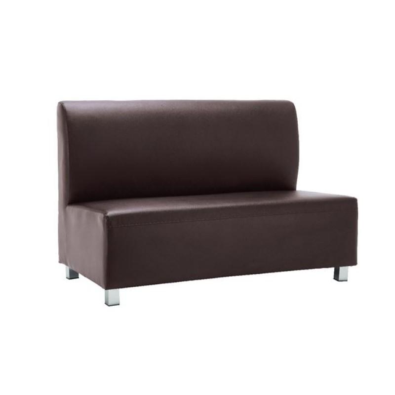 """Καναπές """"BANDY"""" διθέσιος από pu σε καφέ χρώμα 130x71x88"""