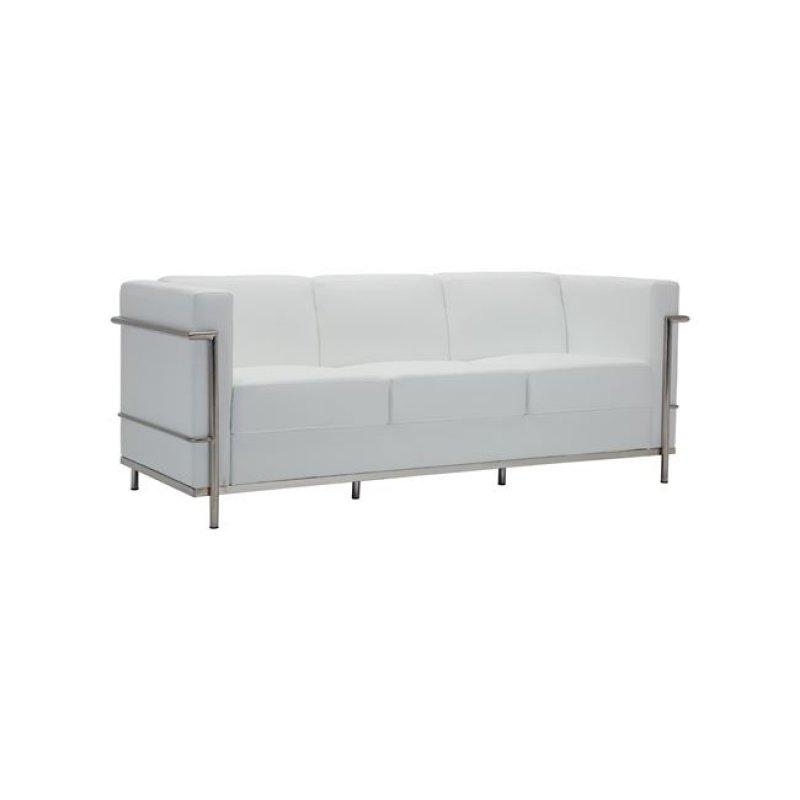 """Καναπές """"GENOVA"""" τριθέσιος από pu σε λευκό χρώμα 188x73x71"""