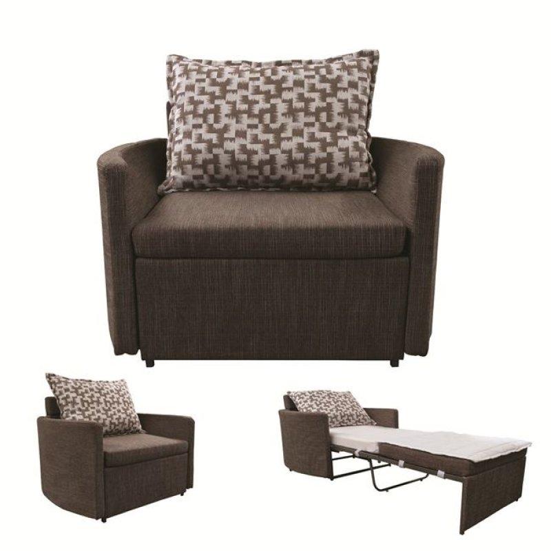 """Πολυθρόνα-κρεβάτι """"ADAMS"""" με ύφασμα σε χρώμα καφέ 109x88x84"""