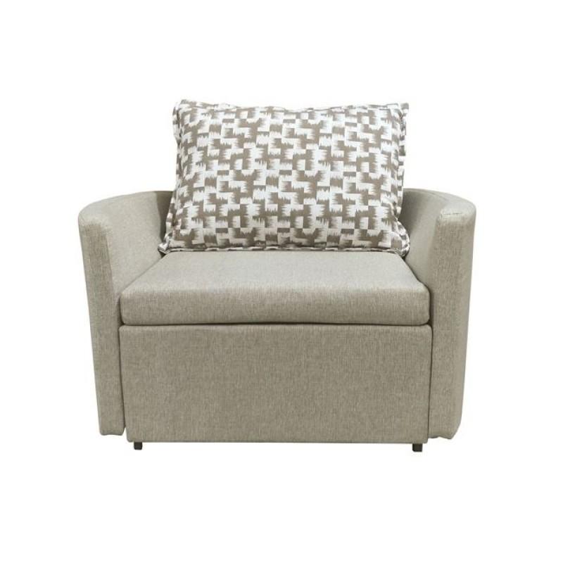 """Πολυθρόνα-κρεβάτι """"ADAMS"""" με ύφασμα σε χρώμα μπεζ 109x88x84"""