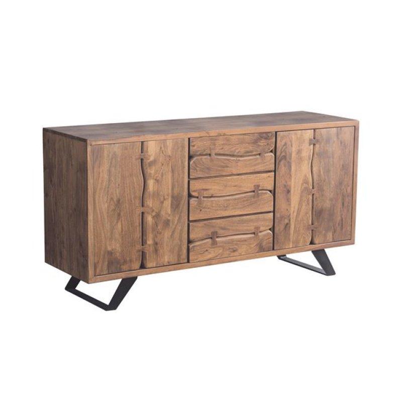 """Μπουφές """"NAGAR"""" από ξύλο ακακία σε φυσικό χρώμα 150x45x78"""