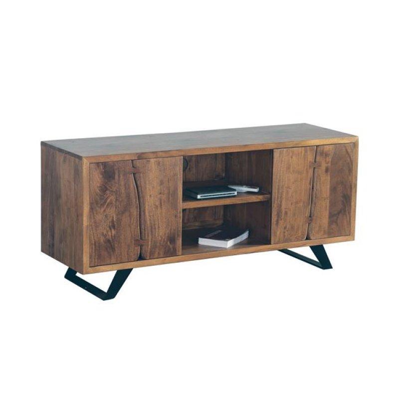 """Έπιπλο τηλεόρασης """"NAGAR""""από ξύλο ακακία σε φυσικό χρώμα 135x43x60"""