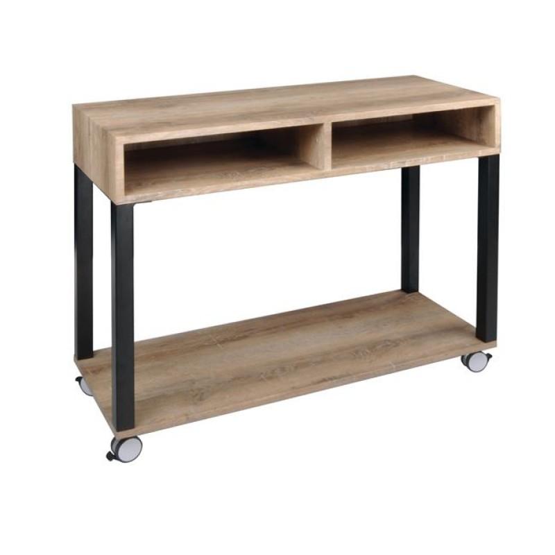"""Κονσόλα """"STATUS"""" ξύλινη σε απόχρωση σημύδας 100x40x80"""