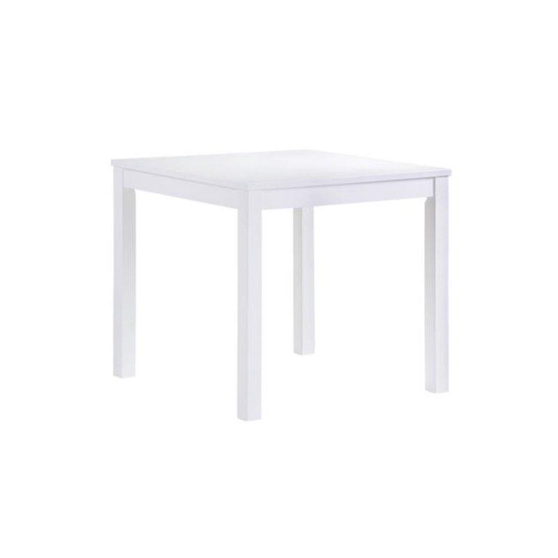 """Τραπέζι """"NATURALE"""" σε λευκή χρώμα 80x80x74"""