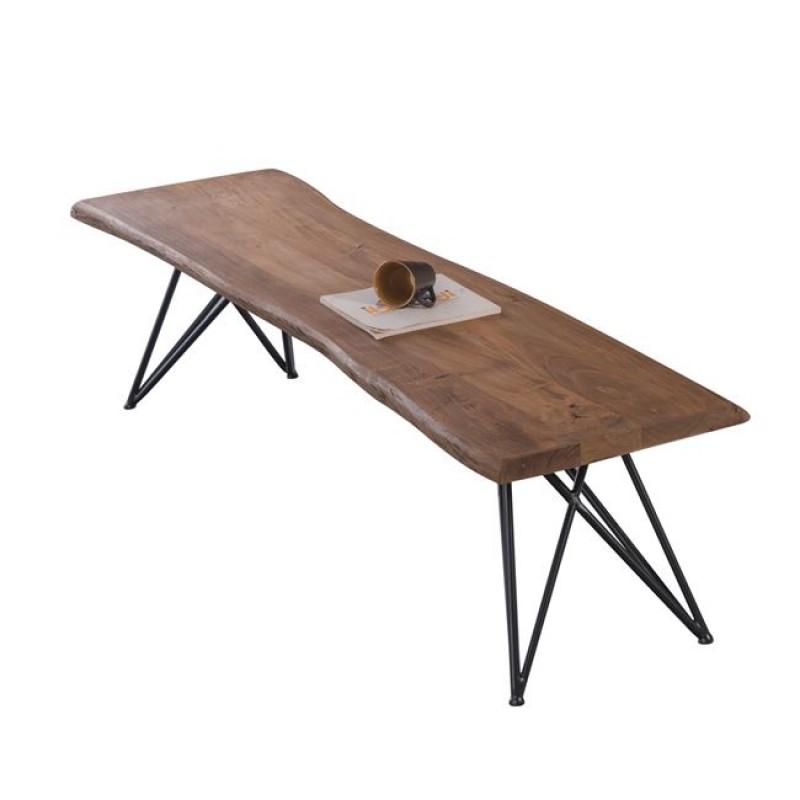 """Πάγκος """"NAGAR"""" ξύλινος-ακακία σε φυσικό χρώμα 178x45x45"""