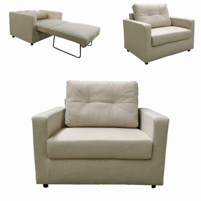 """Πολυθρόνα-κρεβάτι """"DEVON"""" από ύφασμα σε μπεζ χρώμα 103x84x89"""