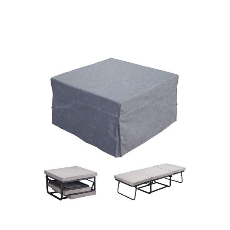 """Σκαμπώ-κρεβάτι """"LOGAN"""" από ύφασμα σε χρώμα γκρι 75x75x45"""