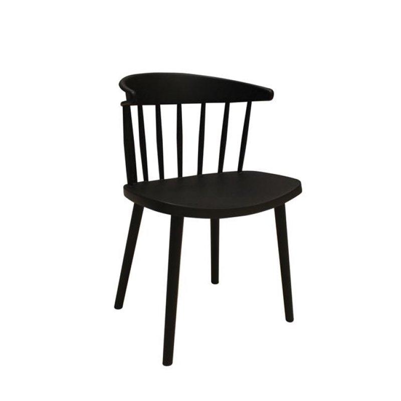 """Καρέκλα """"WESTING"""" από πολυπροπυλένιο σε μαύρο χρώμα 49x47x78"""