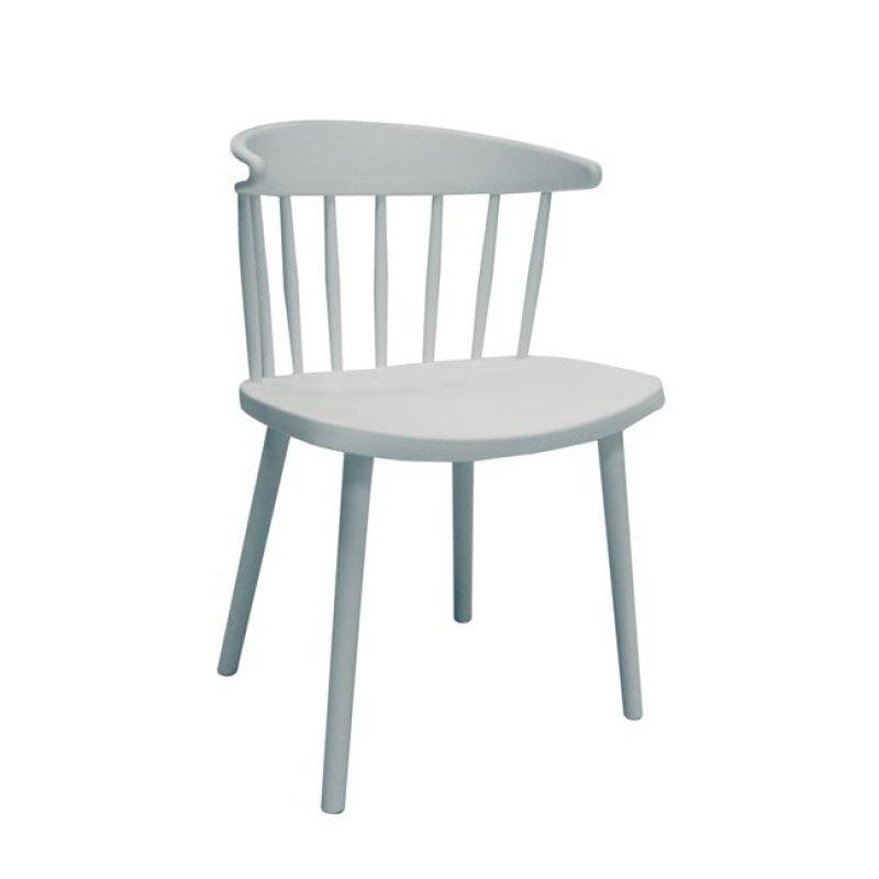 """Καρέκλα """"WESTING"""" από πολυπροπυλένιο σε λευκό χρώμα 49x47x78"""