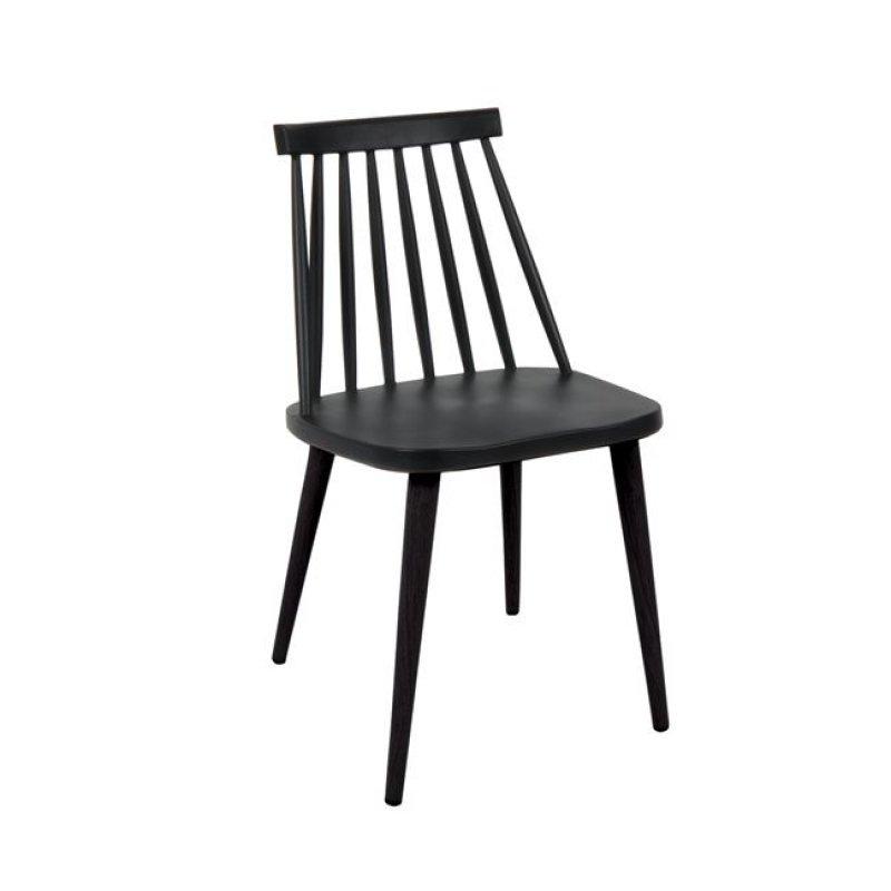 """Καρέκλα """"LAVIDA"""" μεταλλικη-pp σε μαύρο χρώμα 42x46x80"""