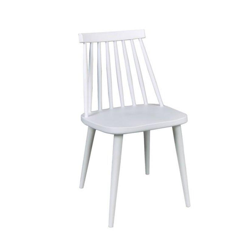 """Καρέκλα """"LAVIDA"""" μεταλλικη-pp σε λευκό χρώμα 42x46x80"""