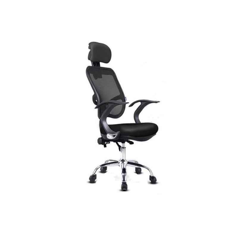 Πολυθρόνα διευθυντή από mesh σε μαύρο χρώμα 57x50x107/117