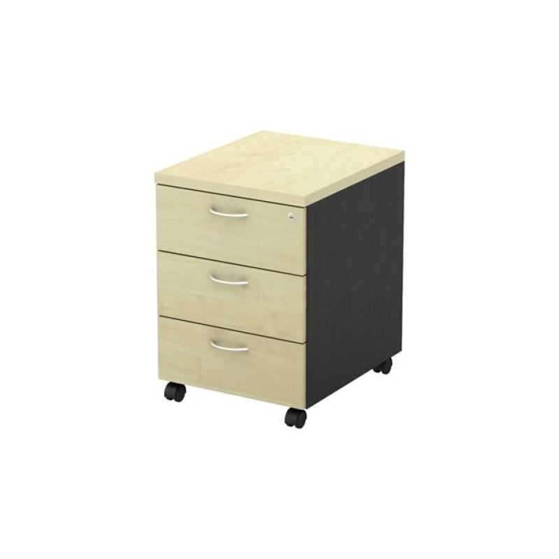Συρταριέρα τροχηλάτη σε φυσικό/οξυά χρώμα 40x48x56