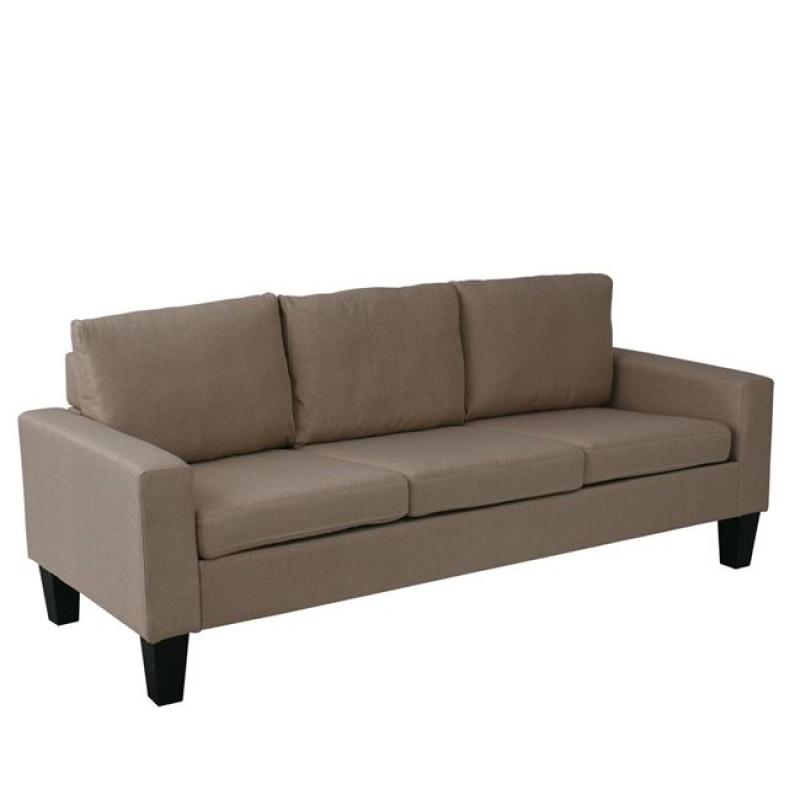 """Καναπές """"SERGIO"""" τριθέσιος υφασμάτινος σε χρώμα μπεζ 188x74x79"""
